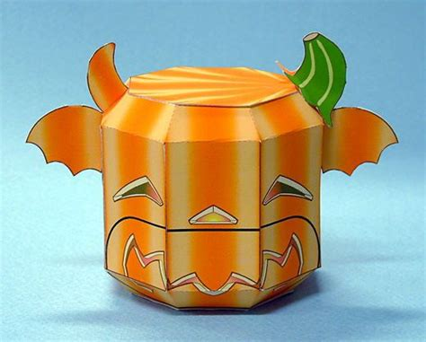 Papercraft Pumpkin - pumpkin papercraftsquare free papercraft