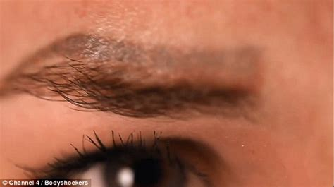 tattoo eyebrows disasters botched permanent make up leaves care worker with four