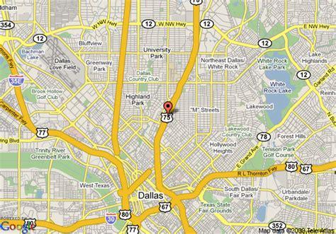 dallas city map texas map of la quinta inn dallas city place dallas