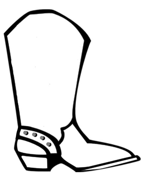 cowboy boot template cowboy badge picture template clipart best