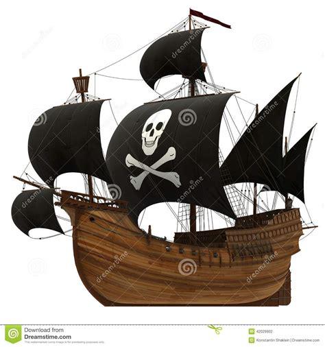 pirate ship stock illustration image