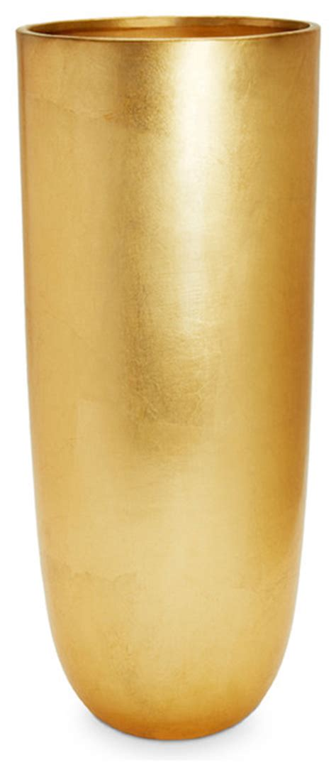 Small Ceiling Fans For Kitchen - gold leaf smooth vase contemporary vases
