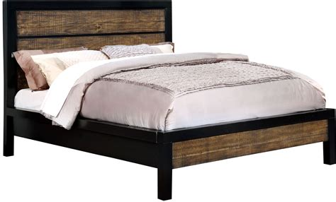 king bed black hamberg black and oak cal king panel bed from furniture