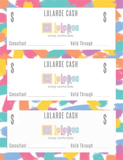 Free Lularoe Gift Card Template by Lularoe Template