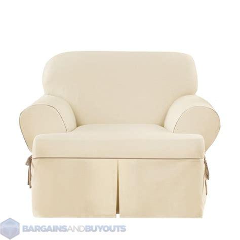 slipcover for club chair sure fit cotton duck club chair t cushion cotton blend