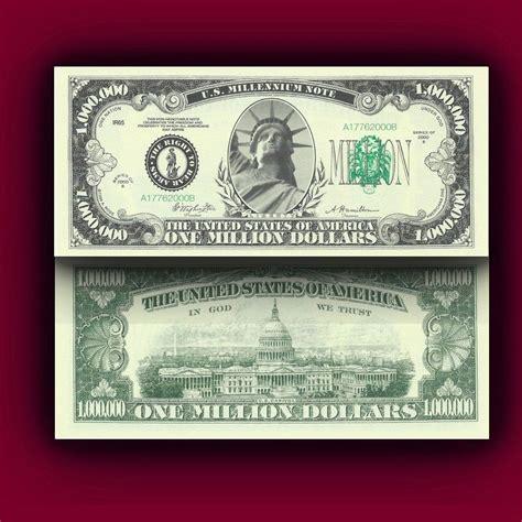 new year dollar bill tradition traditional million dollar novelty bill money ebay