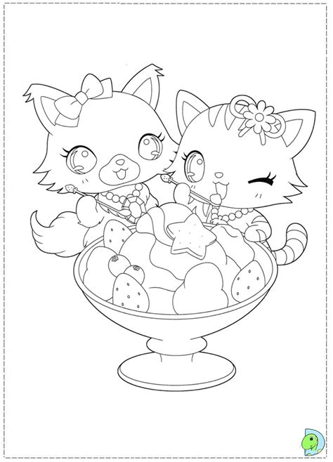 jewel pet color colouring pages