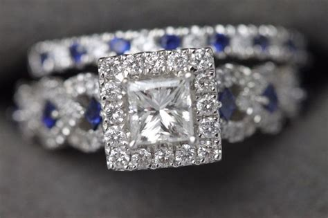 14k Vera Wang Love Collection Diamond & Blue Sapphire