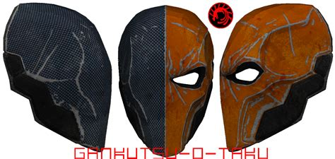deathstroke armor template deathstroke mask pepakura updated by gankutsu o taku on