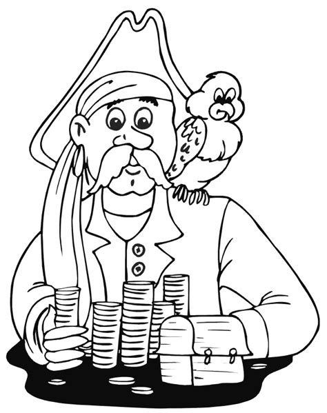 Pirate Coloring Pages Coloringpages1001 Com Pirate Coloring Pages Printable
