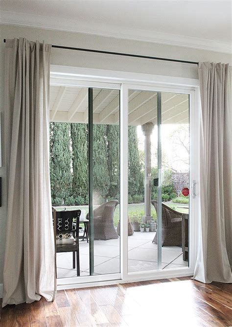 sliding door curtain rod 25 best ideas about sliding door curtains on pinterest