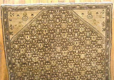 small square rugs antique seneh rug in small square size with soft earth tones for sale at 1stdibs