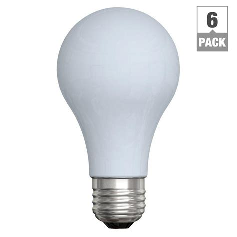 60 watt incandescent a19 reveal light bulb 6 pack ge