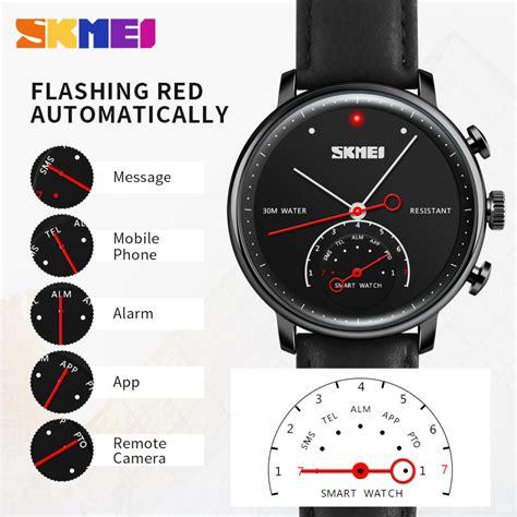 Jam Tangan Sony Smartwatch 1 Skmei Jam Tangan Analog Smartwatch H8 Silver Black