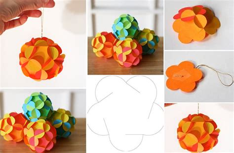 How To Make Decorative Paper Balls - wonderful diy pretty 3d paper ornaments