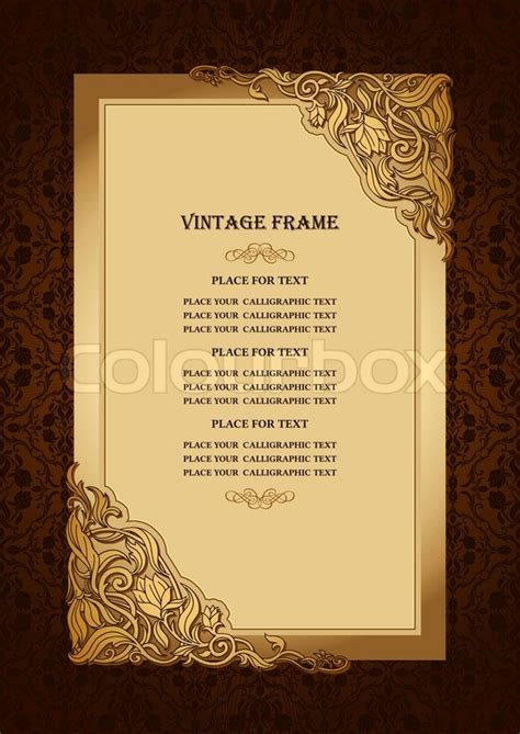 invitation card design gold vintage floral background with royal gold ornamental art