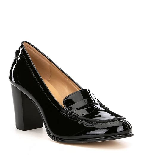 michael kors loafers michael michael kors bayville patent leather loafers