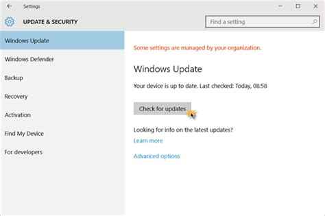 check open how to check for updates in windows 10
