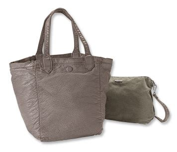 Faux Leather Canvas Tote by S Canvas And Faux Leather Tote Bag Reversible