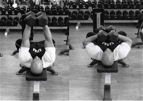 crush grip dumbbell bench press comment muscler ses triceps avec des halt 232 res comment se