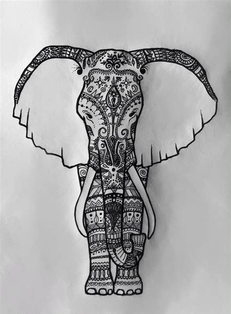 india elephant drawn and designed by sophia moser