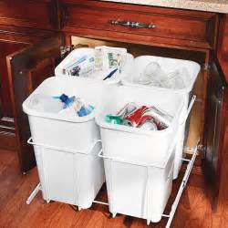 kitchen cabinet recycle bins 17 kitchen organization storage tips