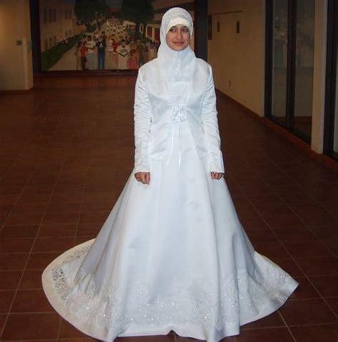 gaun pengantin putih formal busana pengantin dress muslimah and wedding dress