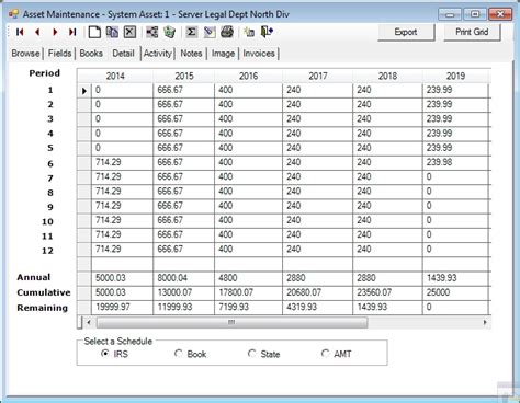 asset schedule template asset depreciation www pixshark images galleries