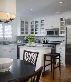 small traditional kitchen ideas how to make an island work in a small kitchen