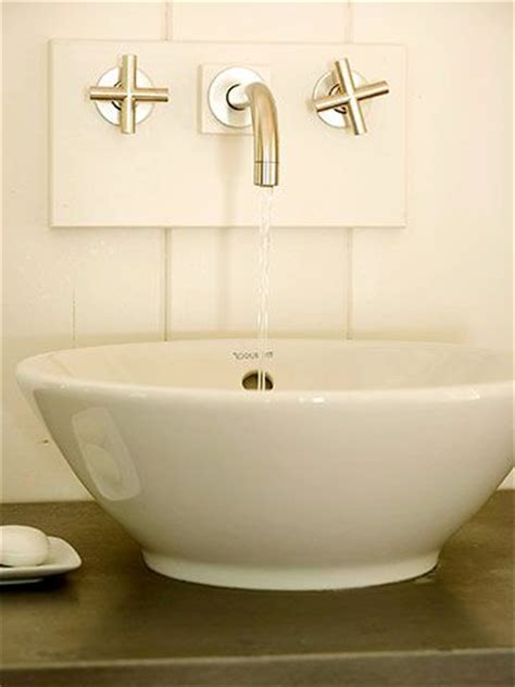 vessel sink faucet placement 14 best images about wall mount faucets on