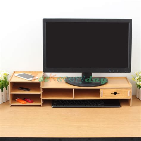 desktop computer stands office desktop wooden monitor stand computer laptop screen