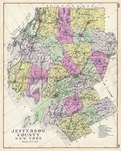 jefferson map jefferson county new york geographicus antique maps
