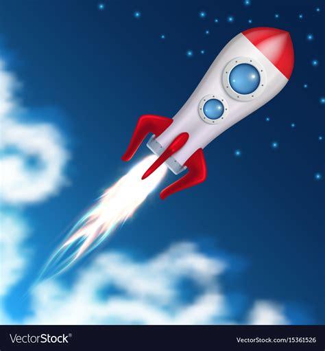 Spaceship Rocket space rocket take science spaceship launch vector image