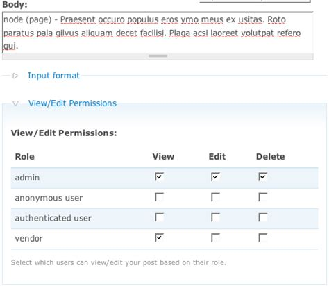 drupal theme node edit form node privacy byrole drupal org