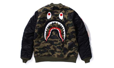 shark jacket bape 1st camo shark ma 1 highsnobiety