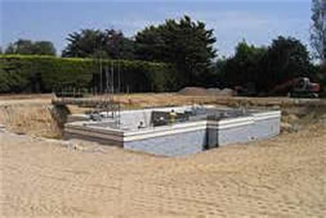New build basement and cellar construction.