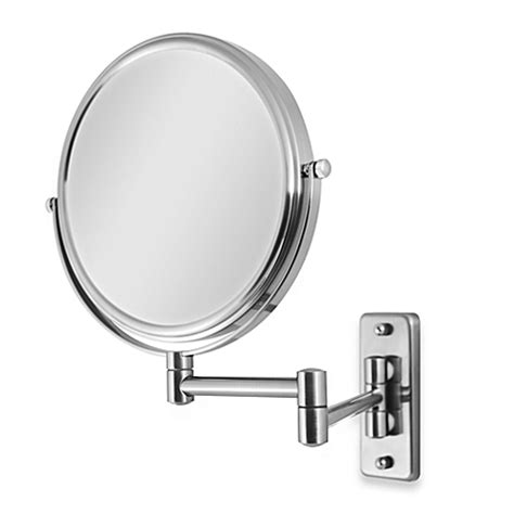 wall mounted bathroom mirrors magnifying zadro swivel wall mount 5x 1x magnification mirror in