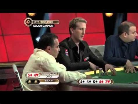 top  poker moments  big game couch cannon