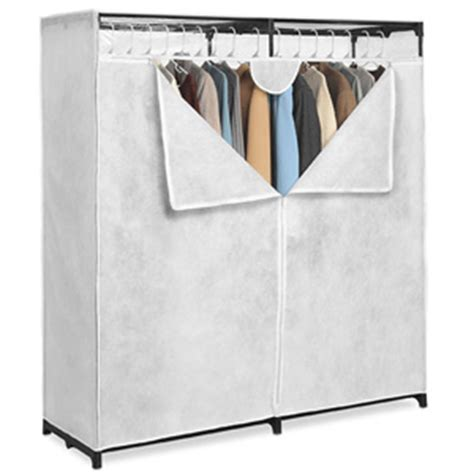 Canvas Clothes Closet by Portable Closet Canvas 60 In Wide Clothes Closet 001474950 Wfs40 Nationalfurnishing