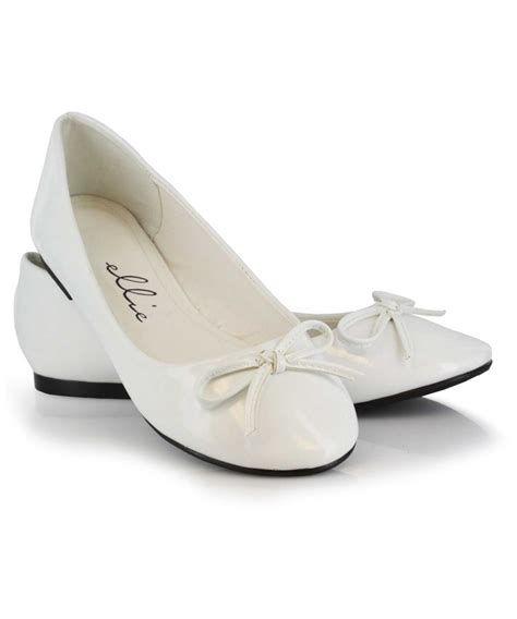 white flats costume shoes