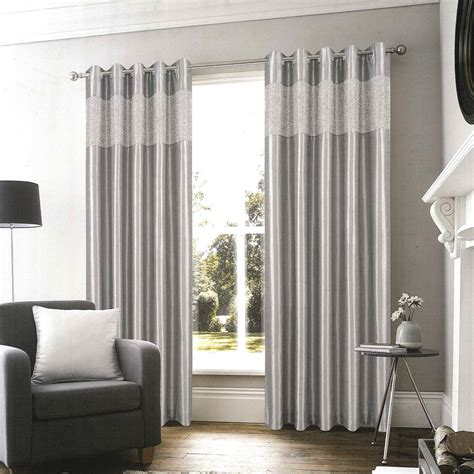 glamour curtains glamour silver ready made eyelet curtains harry corry