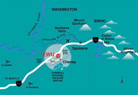 Eastern Washington Mba Admission by Ewu Directions To Eastern Washington