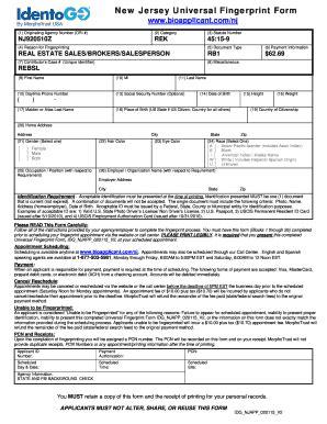 Universal Credit Sle Form Nj Universal Fingerprint Form Fill Printable Fillable Blank Pdffiller