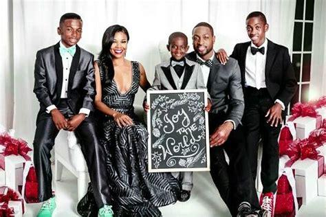 Lousiana Black Cardi diddy family portrait dwyane wade new baby family