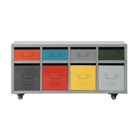 Con Rotelle by Mobiletto Con Rotelle 8 Cassetti In Metallo Multicolore L