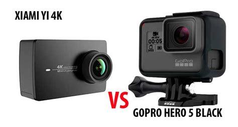 Xiaomi Vs Gopro xiaomi yi 4k vs gopro 5 black comparativa
