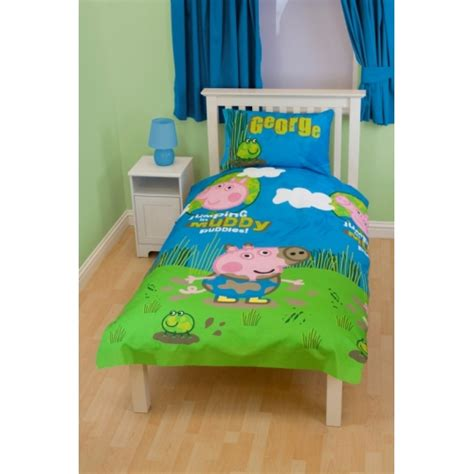george pig peppa puddles single twin bedding duvet quilt
