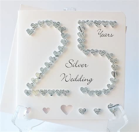 25th Wedding Anniversary Card And In by 25th Anniversary Cards For Husband Www Imgkid The