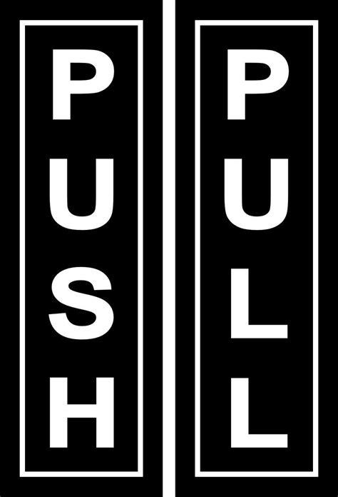 New Sticker Tempelan Wall Sticker Sticker Push Pull push pull stickers kamos sticker