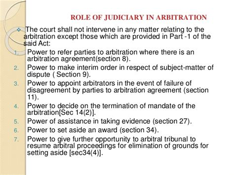section 9 arbitration act role of judiciary in promoting adr